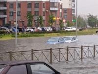 В Петербурге из-за ливней несколько улиц подтоплены. А что в Великом Новгороде?