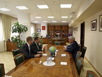 Андрей Никитин встретился с главой Росфинмониторинга Юрием Чиханчиным