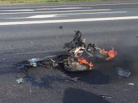 Неизвестному новгородскому скутеристу удалось выжить в страшном ДТП