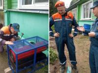 В Новгородской области спасатели сушат подвалы в пострадавших от ливней домах