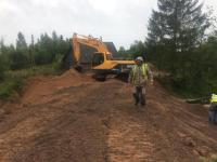 В посёлке Теребутинец вновь восстановили переправу. На этот раз - основательнее