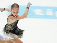 Фигуристка Александра Трусова с большим отрывом опережает соперниц на Nepela Memorial 2019