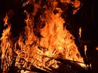 В Валдайском районе пожар уничтожил дом и унес жизнь его хозяина