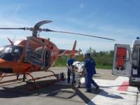 Вертолет доставил в Великий Новгород пациента из Демянского района