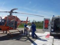 За сегодня вертолет санавиации дважды забирал пациентов из Боровичей