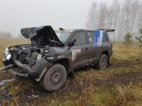 Автомобиль гонщика Антона Мельникова попал на «Симбирском тракте» в крупное ДТП с грузовиком