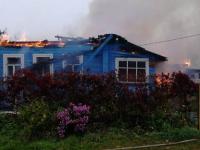 Огонь отнял дом у жителей новгородской деревни Ушерско