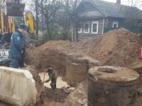 В Сольцах устранили крупную аварию на городском водоводе