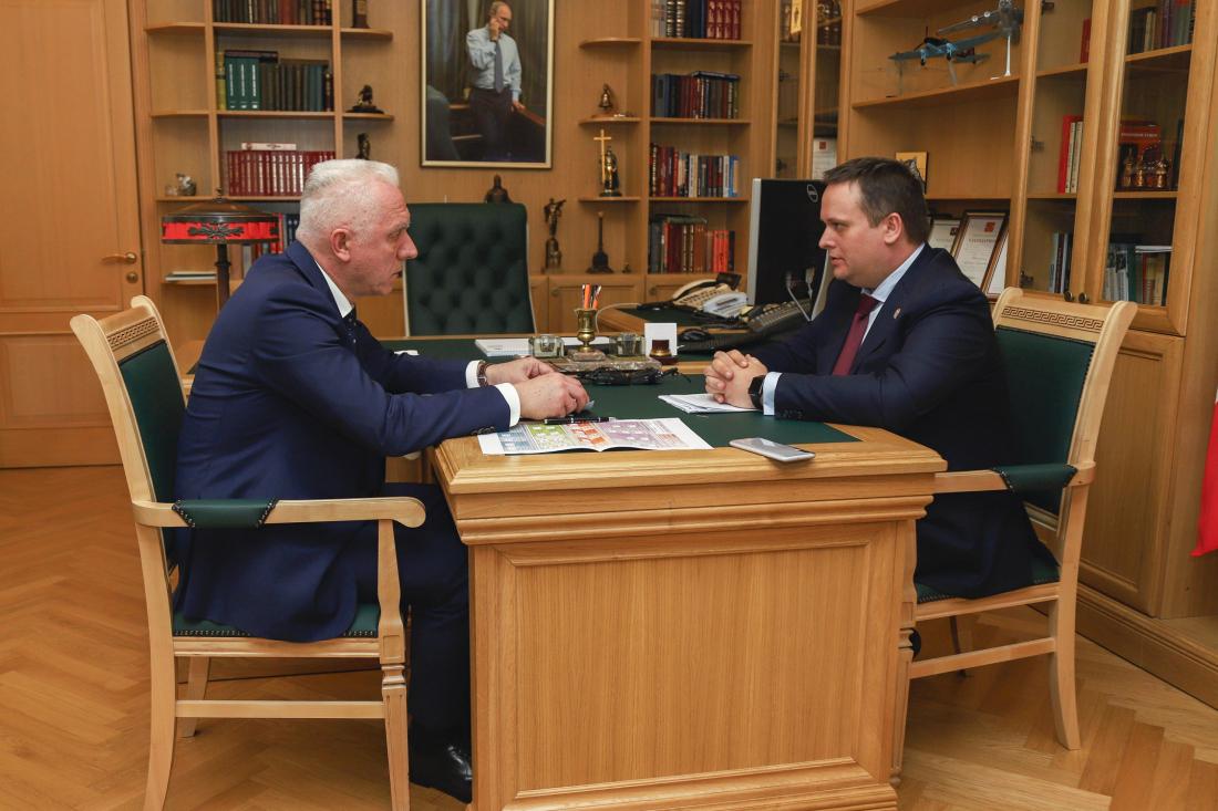 Андрей Никитин рассказал Александру Гуцану о положительных изменениях в Новгородской области
