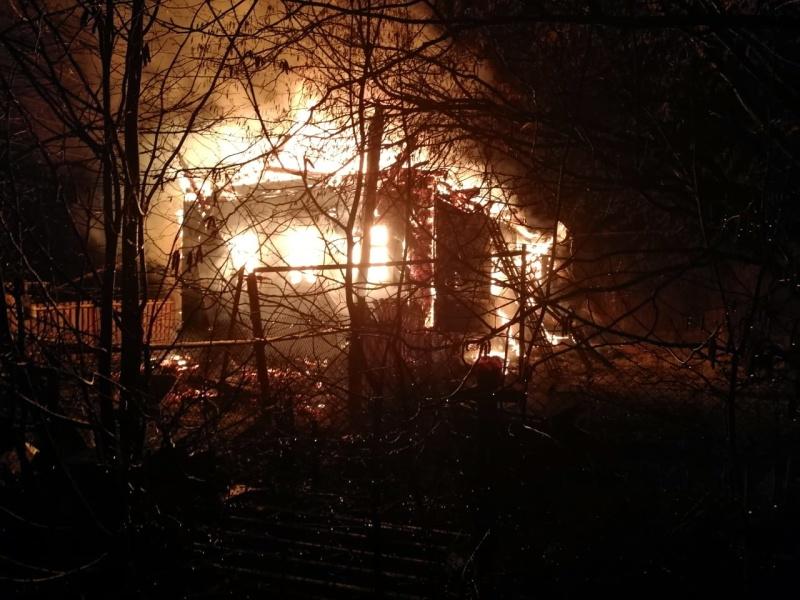 На пожаре в Малой Вишере погиб человек