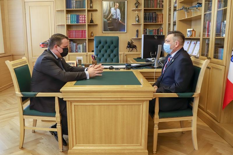 Андрей Никитин предложил Алексею Митюнову регулярно проводить рабочие встречи депутатов гордумы с главами комитетов мэрии