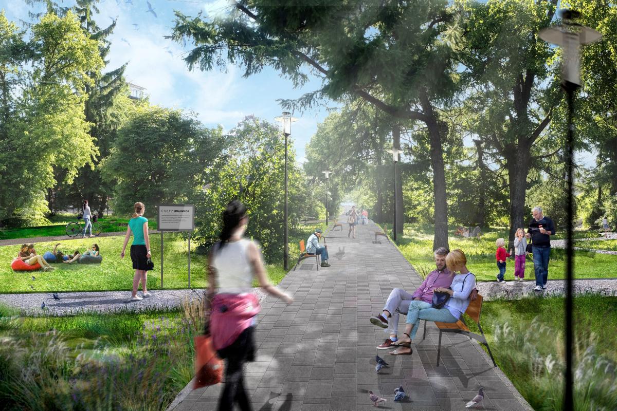 Парк Веряжский и сквер Водников в Великом Новгороде благоустроят за 14 и 12 миллионов рублей